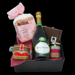 Box champagne, foie gras et chocolat livrée chez vous gratuitement