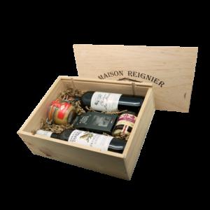 Caisse en bois de produits français à partager, livrée au Mans, en Sarthe et dans toute la France