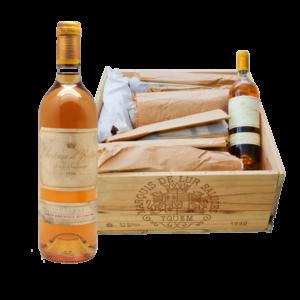 Caisse d'origine de Château Yquem, 12 bouteilles de Sauternes d'exception