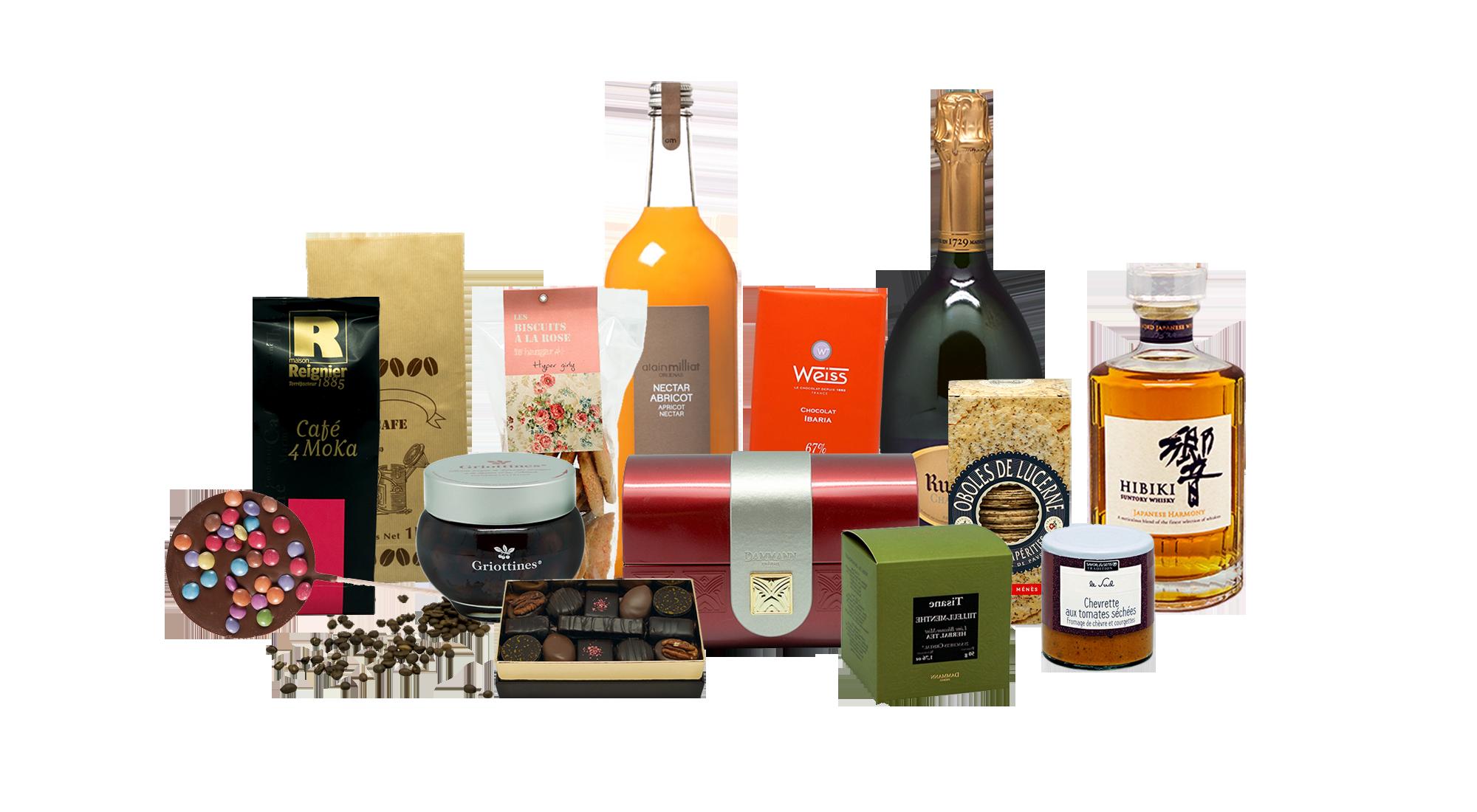 Produits culinaire et alcool d'exception français.